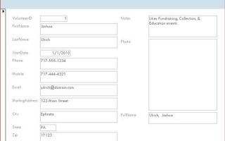 Как сделать сложную форму в access?