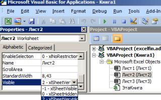 Как сделать скрытый лист в Excel невидимым?