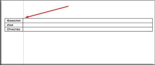Как в word сделать подпись над чертой?