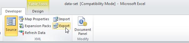 Как сделать из excel xml?