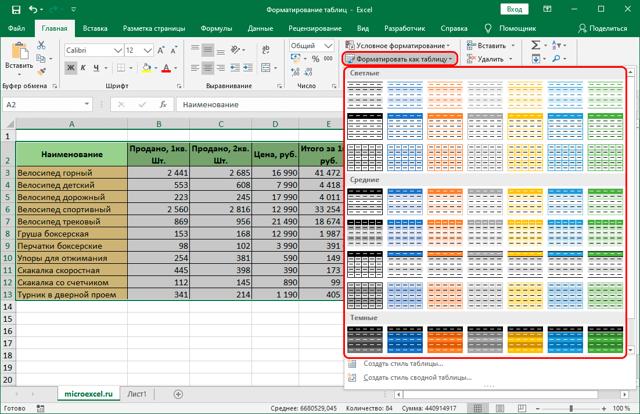 Как сделать форматирование ячеек в excel?
