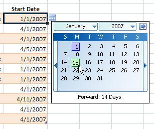 Как сделать месяц в excel?