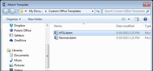 Как сделать шаблон документа в word 2013?