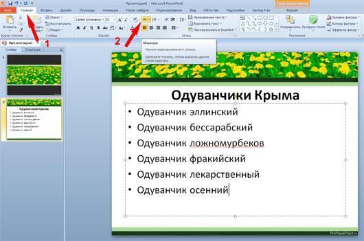 Как сделать красивый список в powerpoint?