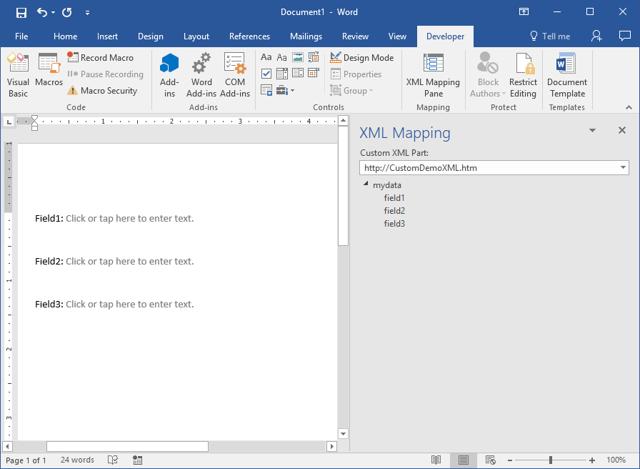 Как сделать файл xml из word?