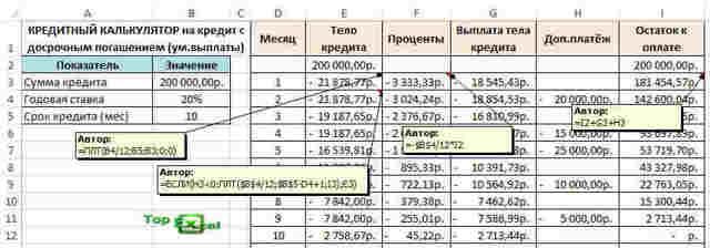 Как сделать тарифный калькулятор в excel?