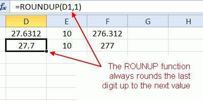 Как в excel сделать округление до 10?