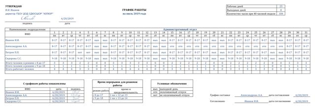 Как сделать таблицу учета рабочего времени в excel?