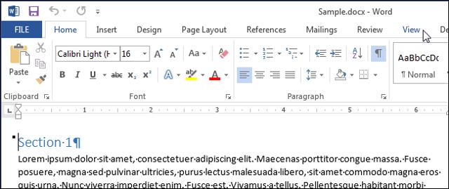 Как сделать чтобы в word отображалась одна страница?