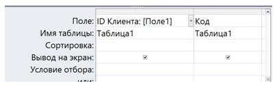Как сделать таблицу из запроса в access?