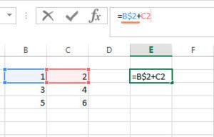 Как сделать константу в excel?