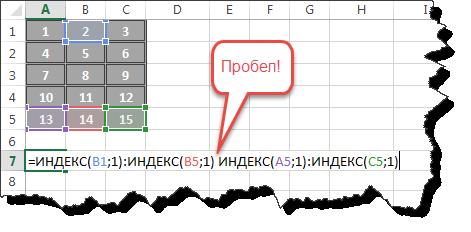 Как сделать формулу в excel итого?