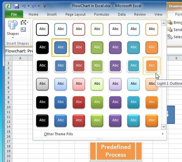 Как сделать схему в excel 2010?