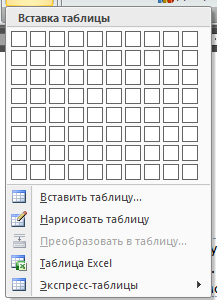 Как сделать меню в word?