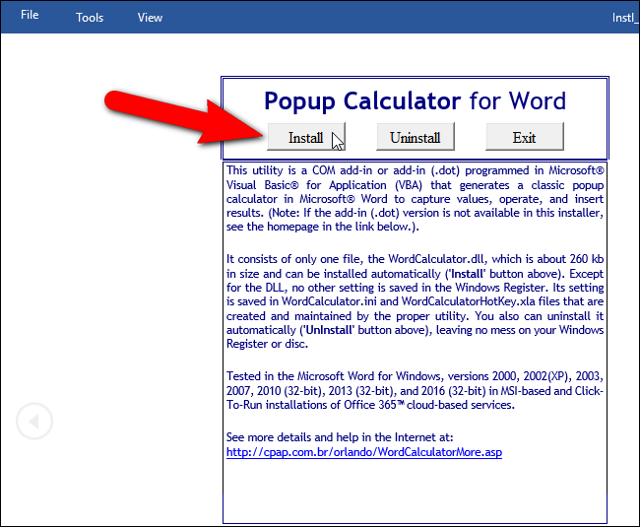 Как сделать калькулятор в word?