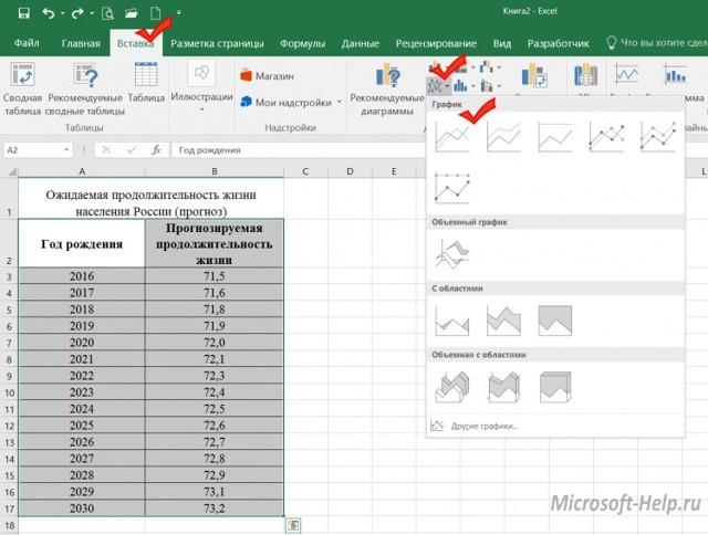 Как microsoft excel сделать график?