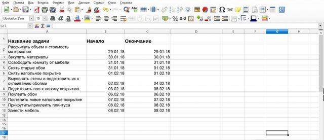 Как сделать таблицу ганта в excel?