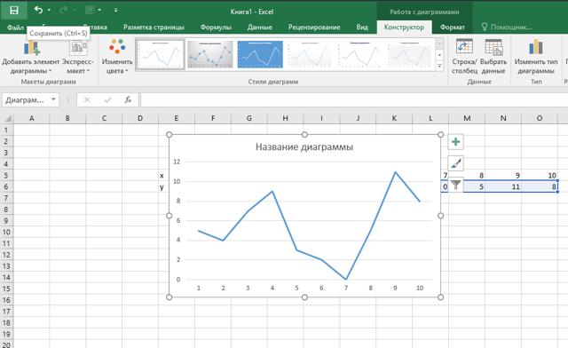 Как сделать график изменения температуры в excel?