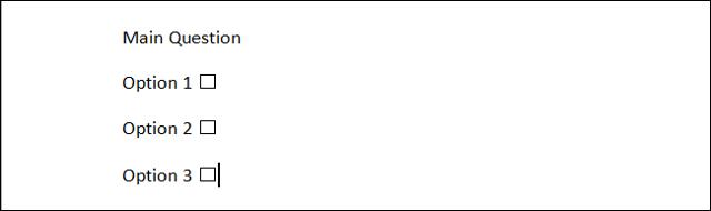 Как сделать чек лист в word?