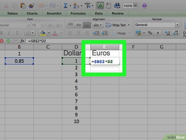 Как сделать конвертер валют в excel?