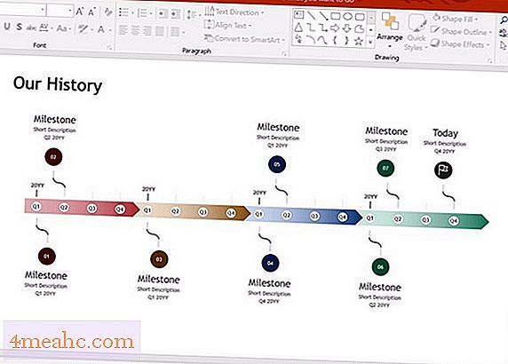 Как сделать таймлайн в powerpoint?