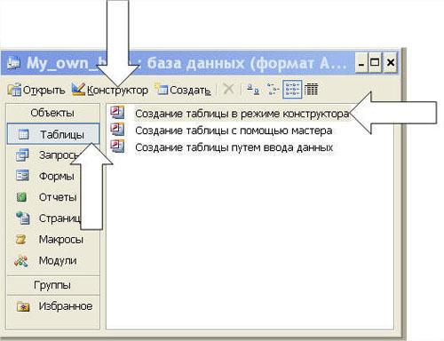 Как сделать базу данных в access библиотека пошагово?