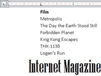 Как сделать вкладки в word 2010?