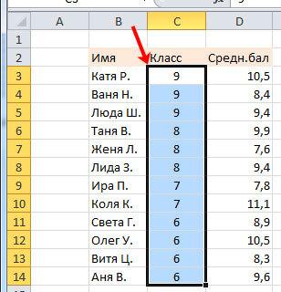 Как сделать сортировку от максимального к минимальному в excel?