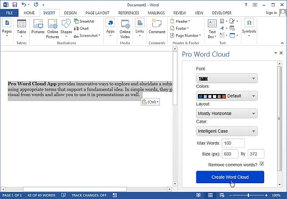 Как сделать облако слов в powerpoint?