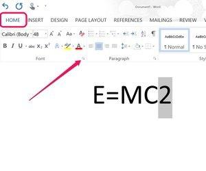 Как в word сделать надстрочный текст?