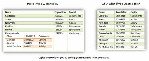 Как сделать специальную вставку в word 2010?