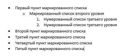 Как список сделать в word?