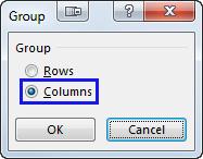 Как сделать группировку в excel 2003?