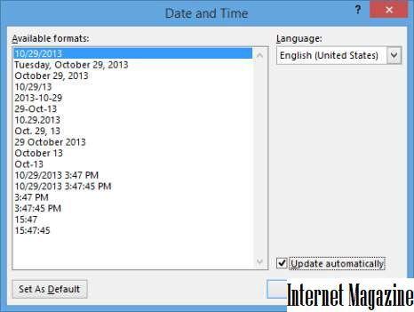 Как сделать таблицу в колонтитуле word 2013?