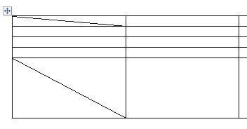 Как сделать косую черту в таблице word?