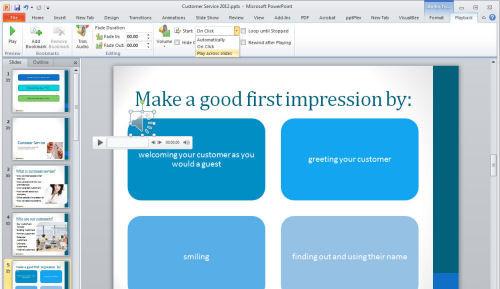 Как сделать эффект приближения в powerpoint?