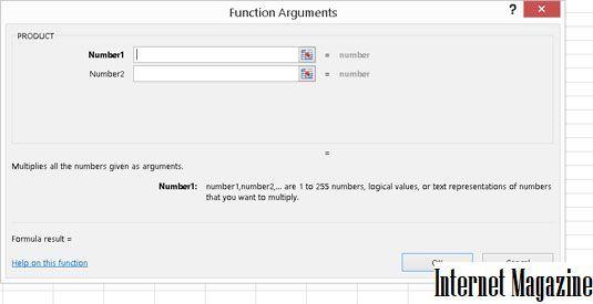 Как сделать аргументы функции в excel?