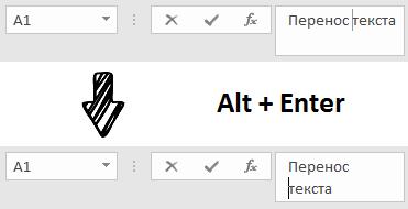 Как сделать текст в одну строку в excel?