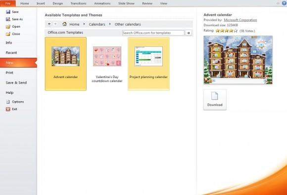 Как сделать календарь в powerpoint?