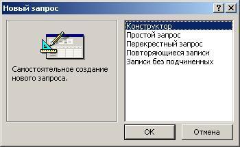 Как сделать запрос в microsoft access?