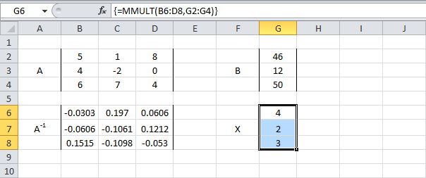 Как сделать уравнение в excel?