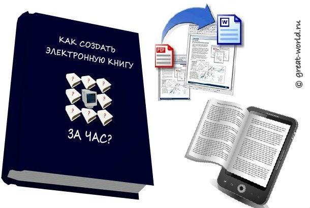 Как сделать электронную книгу в word?