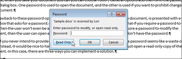 Как файл excel сделать только для чтения?