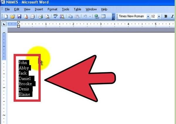 Как сделать текст в алфавитном порядке в word?