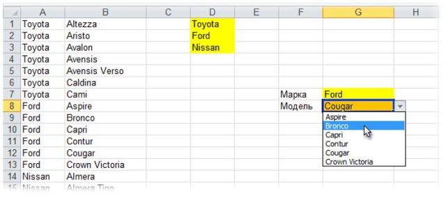 Как сделать связанные выпадающие списки в excel легко?