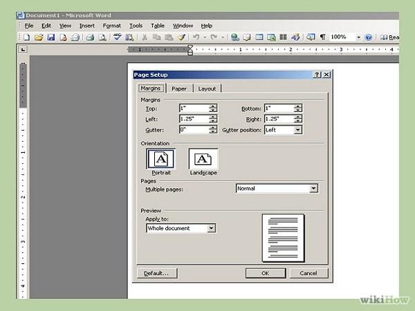 Как сделать поля в word 2007?