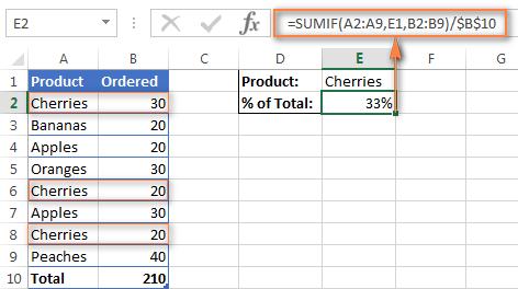 Как сделать процент от числа в excel?