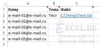 Как сделать почтовую рассылку из excel?